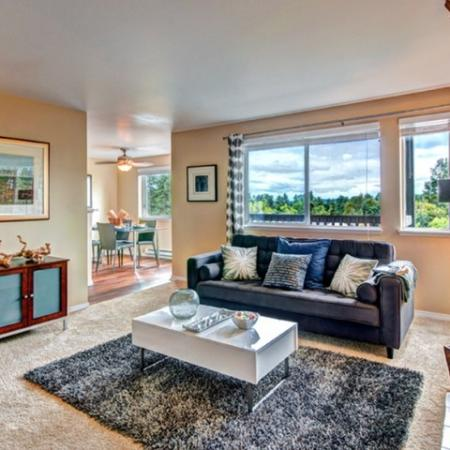 Luxurious Living Room | Renton Luxury Apartments | Montclair Heights 4