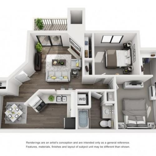Floor Plan 4 | Morrison Apartments | Vista at Trappers Glen