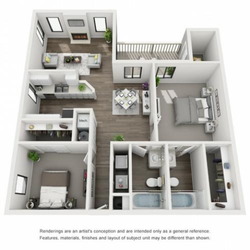 Floor Plan 5   Apartments Morrison CO   Vista at Trappers Glen