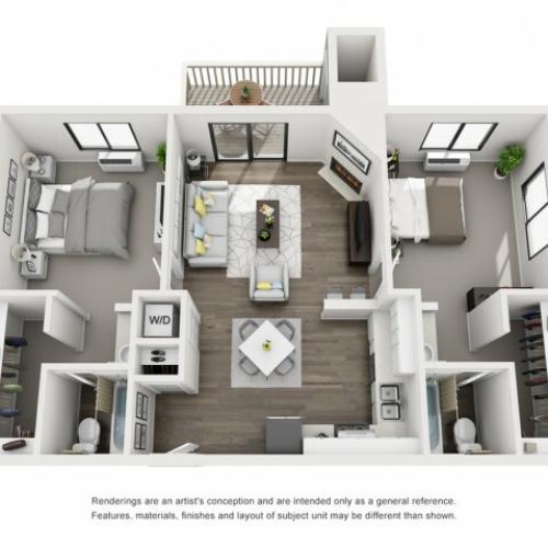 Floor Plan 6   Morrison Apartments   Vista at Trappers Glen