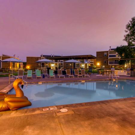 Sparkling Pool | Apartments for rent in Lakewood, CO | Waterfront Apartments