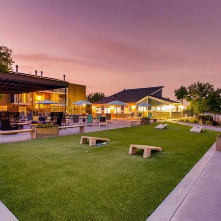 Resident Outdoor Game Area | Apartments in Lakewood, CO | Waterfront Apartments