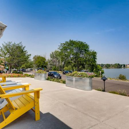 Resident Sun Deck | Lakewood CO Apartment For Rent | Waterfront Apartments