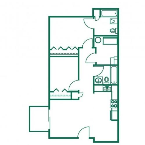 2x2 | 2 bed 2 bath | from 860 square feet