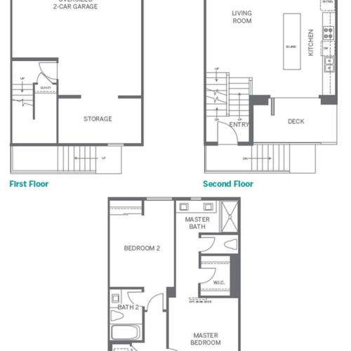 3 Bedroom Floor Plan | San Marcos Apartments | Anden