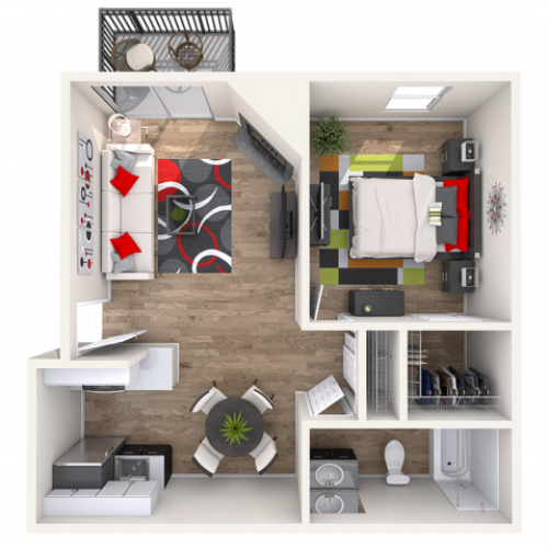 Chatfield | 1 bed 1 bath | from 700 square feet