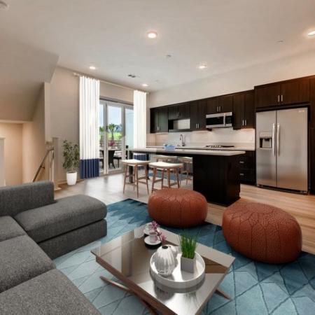 Elegant Living Room | 2 and 3 Bedroom Apartments in San Marcos | Anden
