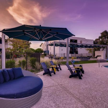 Lounging by the Pool | Scottsdale AZ Apartments For Rent | The Glen at Old Town Apartments