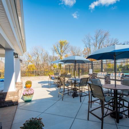 Community BBQ Grills   apts In frederick md   Prospect Hall