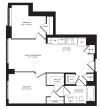 2 Bedroom Floor Plan | The Rixey | Student Housing Arlington VA