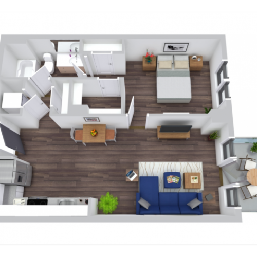 Floor Plan 4 | The Rixey | Arlington Student Housing