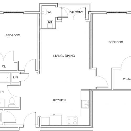 2 Bedroom Floor Plan A