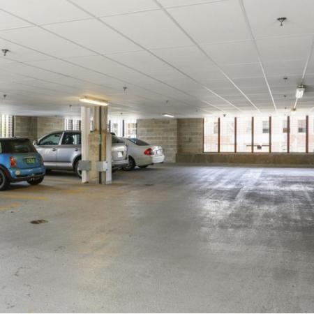 Off-street parking and covered garage parking available*