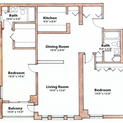 2 bedroom 1175 Sq. Ft.