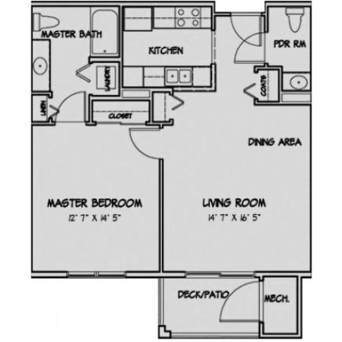 1 Bedroom Floor Plan Camden
