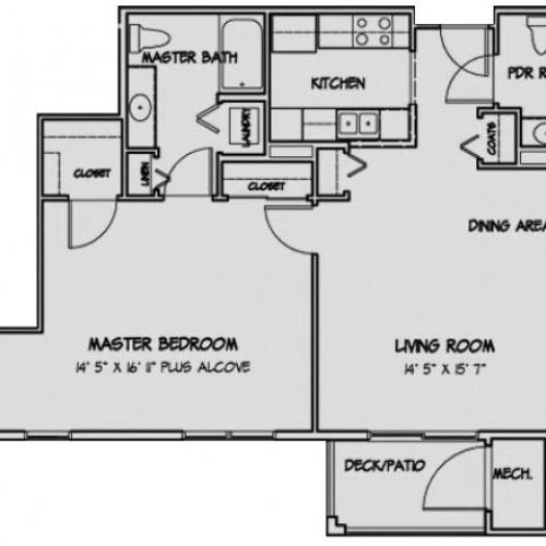 1 Bedroom Floor Plan Paddington