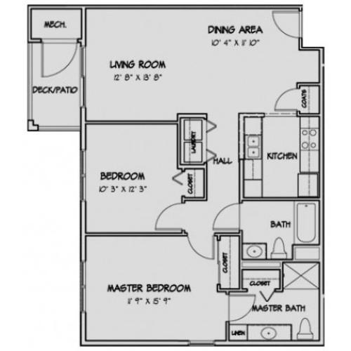 2 Bedroom Floor Plan Stratford