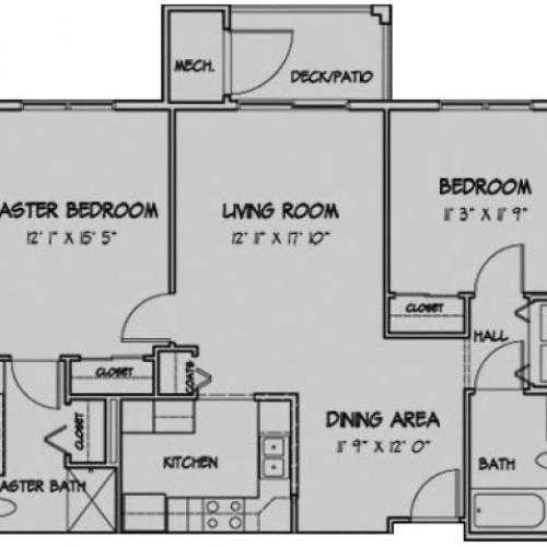 2 Bedroom Floor Plan Richmond