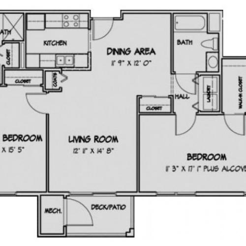 2 Bedroom Floor Plan Spencer