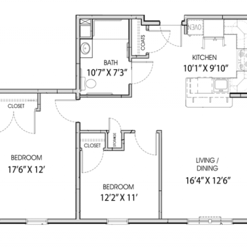 2 Bedroom Floor Plan - Little Neck Village - Marion MA