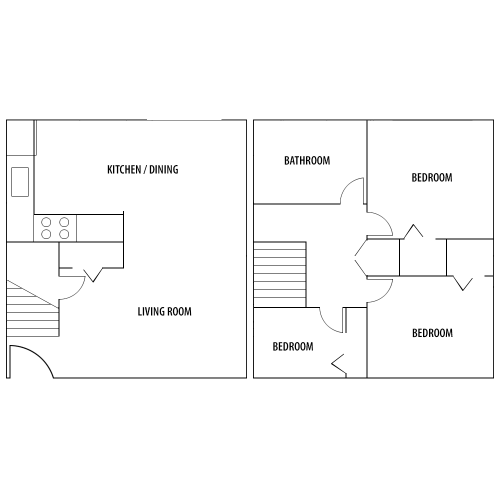 3 Bedroom Floor Plan