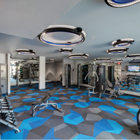 State-of-the-Art Fitness Center | West Roxbury Apartments For Rent | Oak Row
