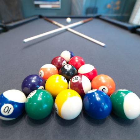 Community Lounge Retreat | Pool Table | West Roxbury Apartments