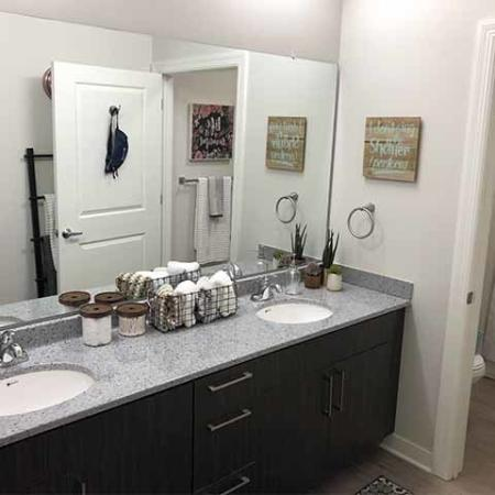 Ornate Bathroom | Purdue Student Apartments | Aspire at Discovery Park