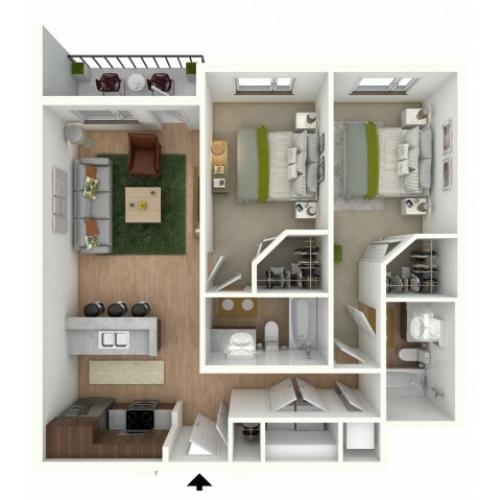 B3 - floor plan wfurniture display
