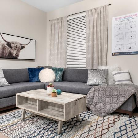 Spacious Living Room | Purdue Student Apartments | Aspire at Discovery Park