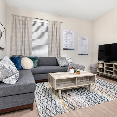 Elegant Living Room | Apartments In West Lafayette Indiana Near Purdue | Aspire at Discovery Park