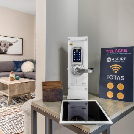 Smart Lock Home | Purdue Apartments Off Campus | Aspire at Discovery Park