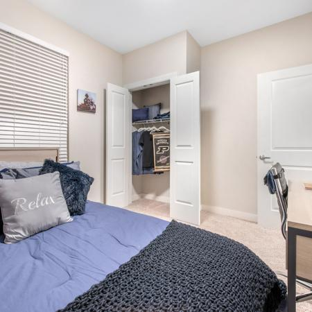 Spacious Bedroom | Apartments Near Purdue University | Aspire at Discovery Park