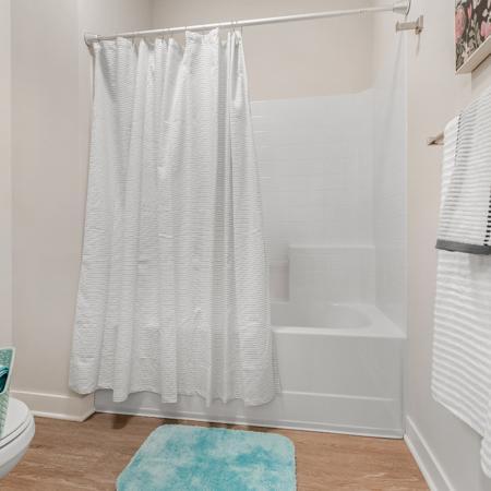Elegant Bathroom | Purdue Student Apartments | Aspire at Discovery Park