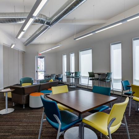 Resident Study Lounge | Pet Friendly Apartments In Iowa City | Aspire at West Campus