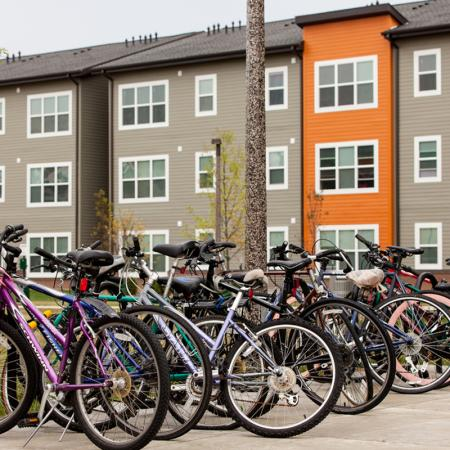 Bike Rack | Two Bedroom Apartments Iowa City | Aspire at West Campus