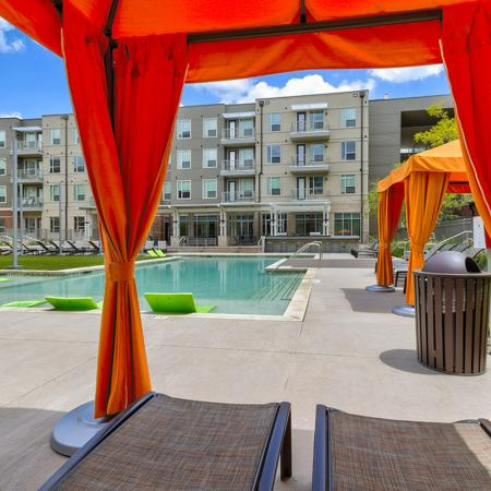 vLounging by the Pool | Richardson Apartments | Northside