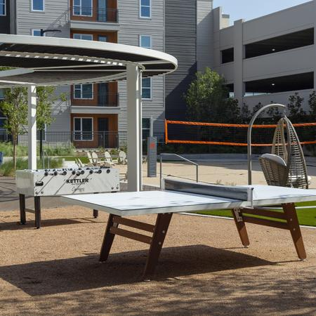 Outdoor ping pong table | Apartments in Richardson | Northside