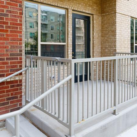 Spacious Porch Area | Richardson Texas Apartments for Rent | Northside