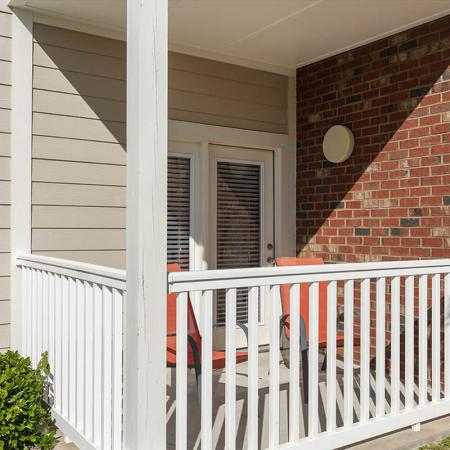 Spacious Apartment Balcony | Wilmington NC Apartments For Rent | Aspire 349