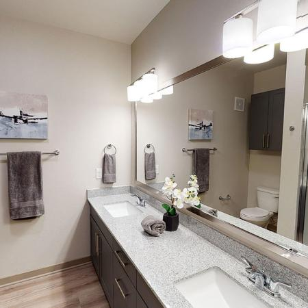 northside plus - townhome - master bathroom