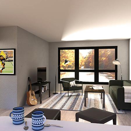 shared herky floor plan - living room