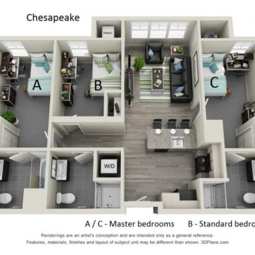 Floor Plan 2 | Hillside Commons