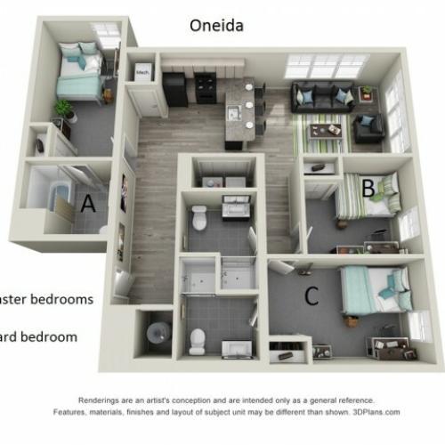 Floor Plan 3 | Hillside Commons