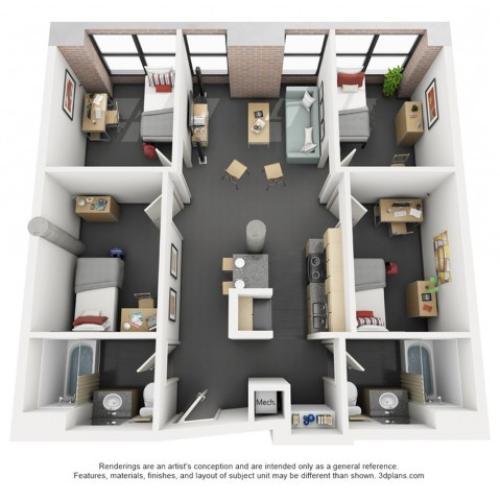 Carey 4x2 - Floor Plan - Disclaimer: This floor plan is an approximation and may not include the most recent information.