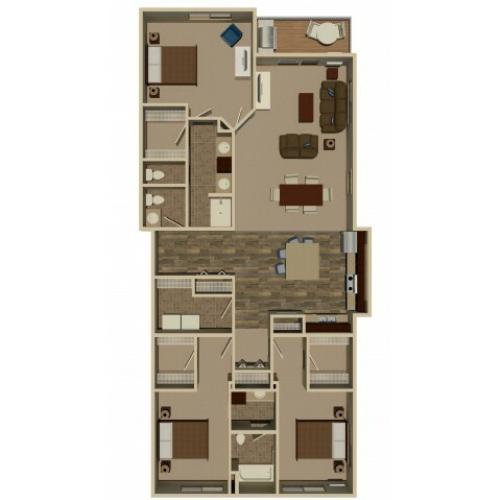 1 Bed / 1 Bath Apartment In Bemidji MN