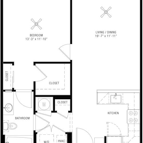 1 Bedroom Floorplan | Majestic