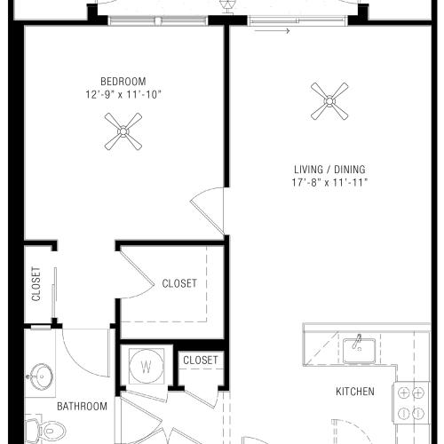 One Bedroom Floorplan | Majestic