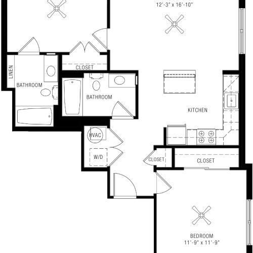 2 Bedroom Apartments | Paramount