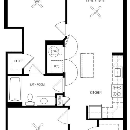 1 Bedroom Apartments | Paramount
